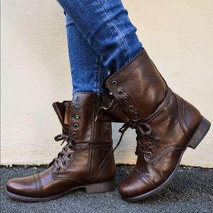 Steve Madden Brown Troupa Boots sz 8